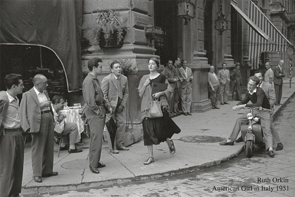 American girl in Italy, 1951 Taide