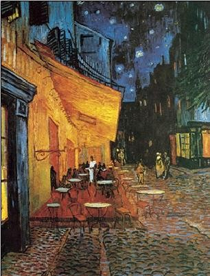 Café Terrace at Night - The Cafe Terrace on the Place du Forum, 1888 Taidejuliste