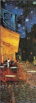 Café Terrace at Night - The Cafe Terrace on the Place du Forum, 1888 (part.) Taidejuliste