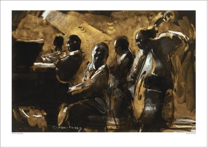 Charlie Mackesy - Blues On Gold Taidejuliste