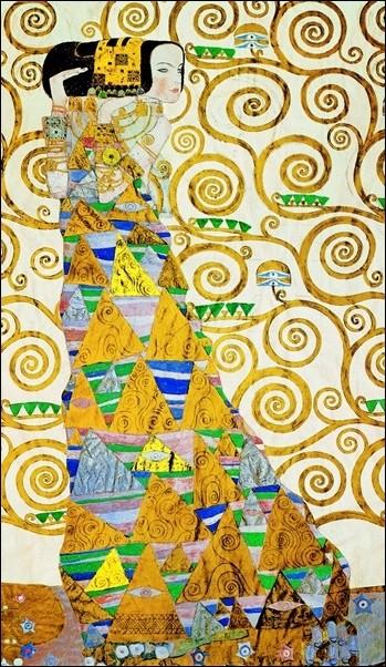 Gustav Klimt - L Attesa Taidejuliste