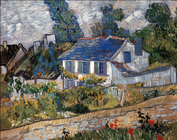 Houses in Auvers, 1890 Taidejuliste