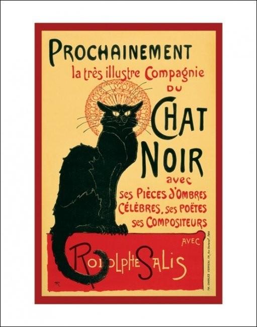 Le Chat noir - Steinlein Taidejuliste