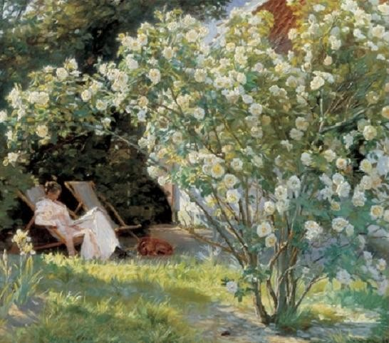 Marie in the Garden (The Roses) Taidejuliste