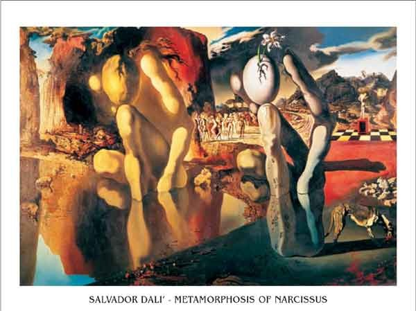 Metamorphosis of Narcissus, 1937 Taidejuliste