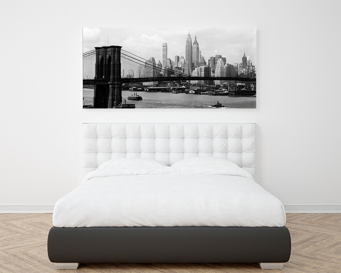 New York - Manhattan skyline and Brooklyn bridge Taidejuliste