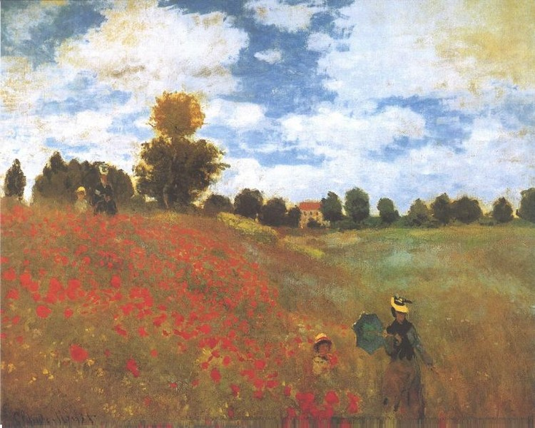 Poppies, Poppy Field, 1873 Taidejuliste