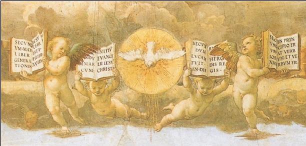 Raphael - The Disputation of the Sacrament, 1508-1509 (part) Taidejuliste