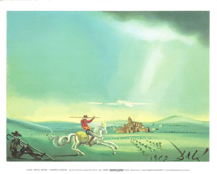 Saint George and the Dragon, 1944 Taidejuliste