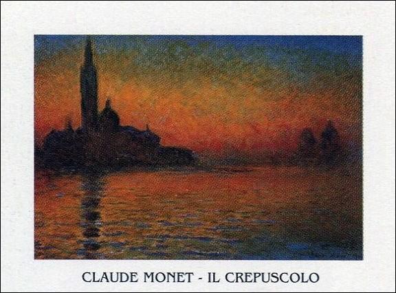 San Giorgio Maggiore at Dusk - Dusk in Venice (Sunset in Venice, Venice Twilight) Taidejuliste