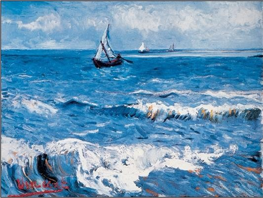 Seascape at Saintes-Maries, 1888 Taidejuliste