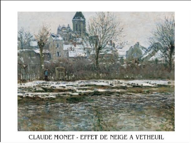 The Church at Vetheuil under Snow, 1878 Taidejuliste