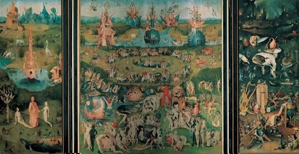 The Garden of Earthly Delights, 1503-04 Taidejuliste