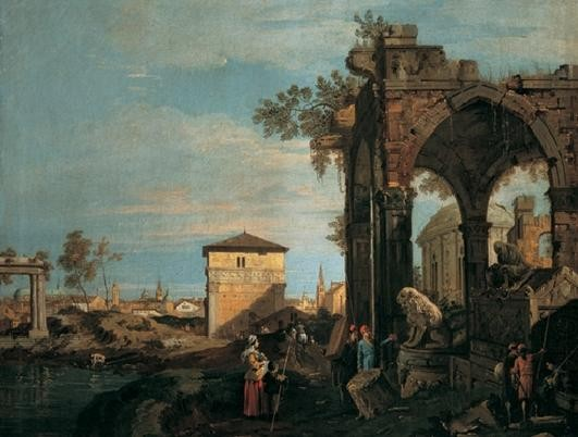 The Landscape with Ruins I Taidejuliste
