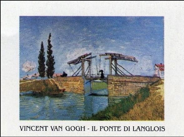 The Langlois Bridge at Arles, 1888 Taide