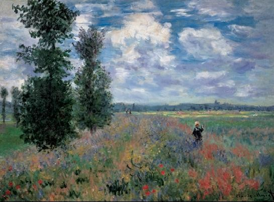 The Poppy Field in Summer near Argenteuil Taidejuliste