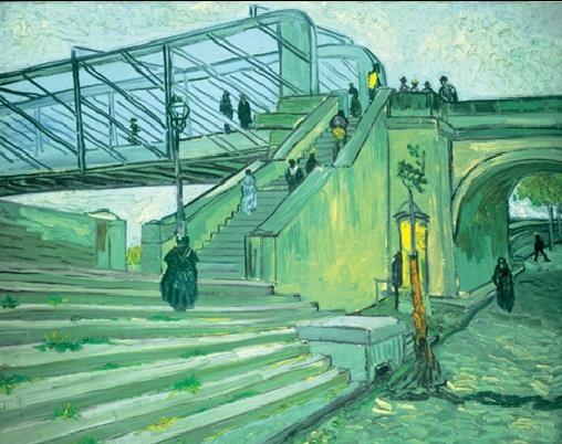 The Trinquetaille Bridge, 1888 Taide