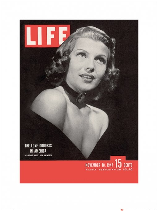Time Life - Life Cover - Rita Hayworth Taidejuliste