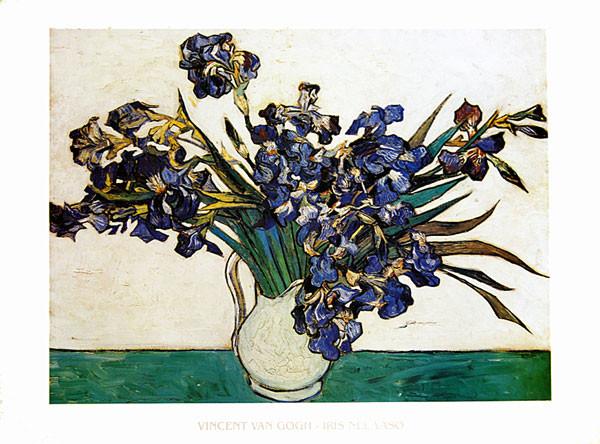 Vase with Irises, 1890 Taidejuliste