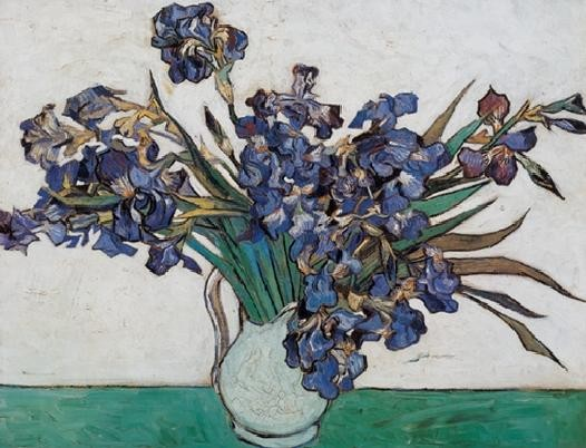 Vase with Irises, 1890 Taide