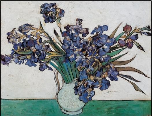 Vase with Irises, 1890 Taidejuliste