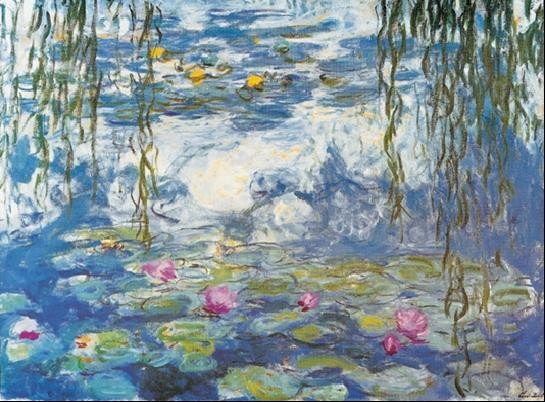 Water Lilies, 1916-1919 Taide