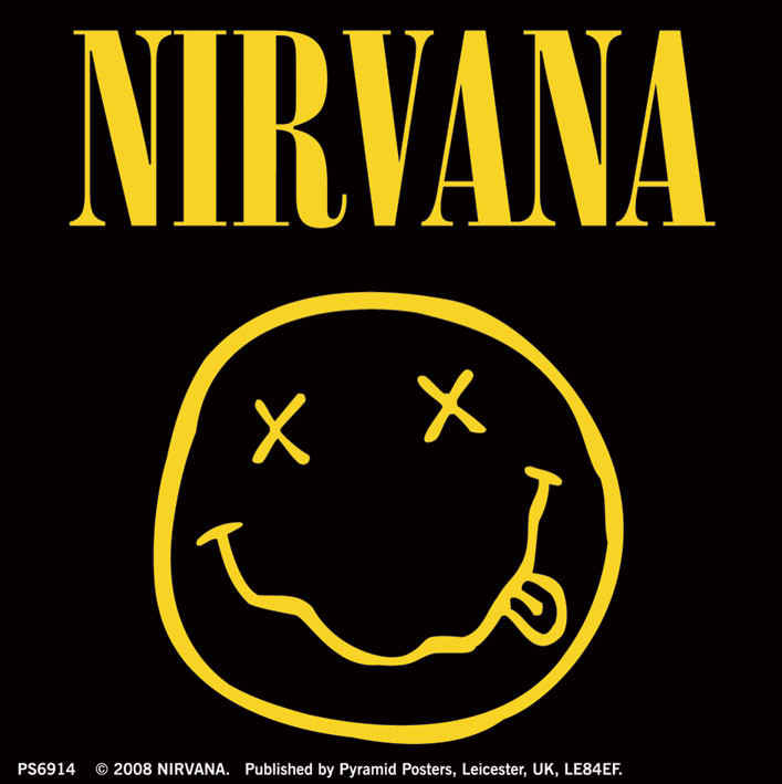 NIRVANA - smiley logo Vinyylitarra