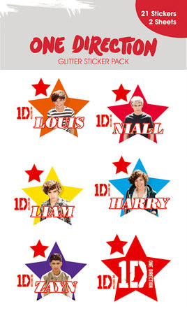 ONE DIRECTION - stars with glitter Vinyylitarra