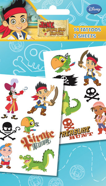 JAKE & NEVERLAND PIRATES - characters  Tarratatuointi