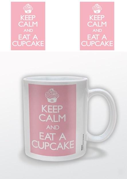 Keep Calm and Eat a Cupcake Tasse