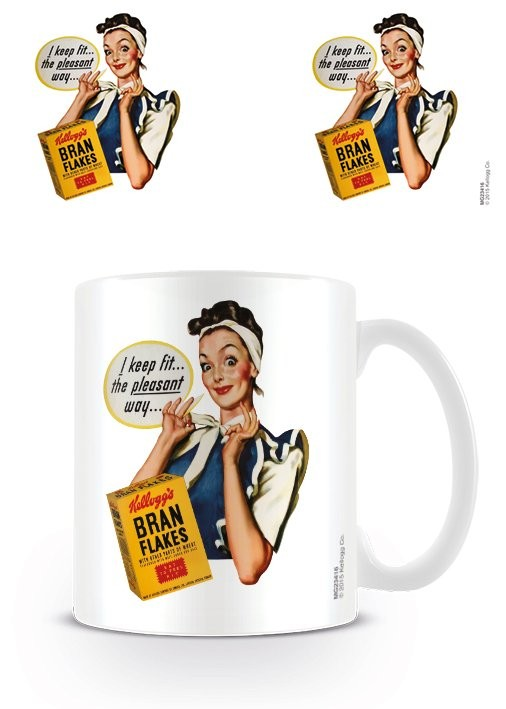 Vintage Kelloggs - I Keep Fit Tasse