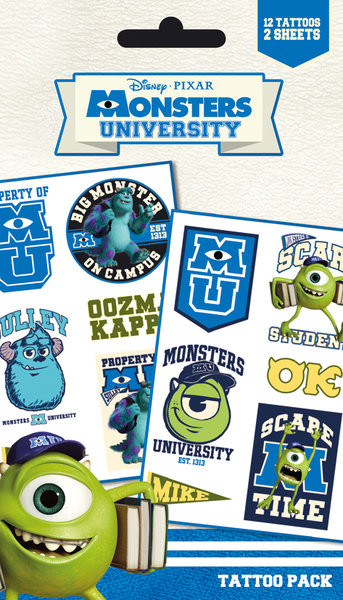 MONSTERS UNIVERSITY - mike & sulley Tattoo