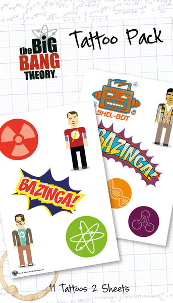 BIG BANG THEORY - bazinga  Tatuagens