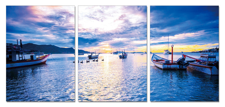 Blue sky over the lake Taulusarja