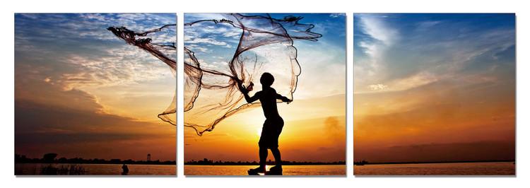 Fishing at Sunrise Taulusarja