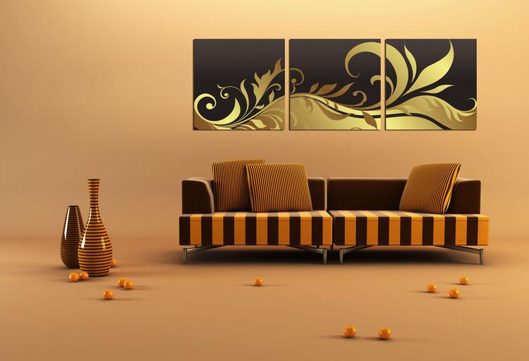 Modern Design - Black and Gold Ornament Taulusarja