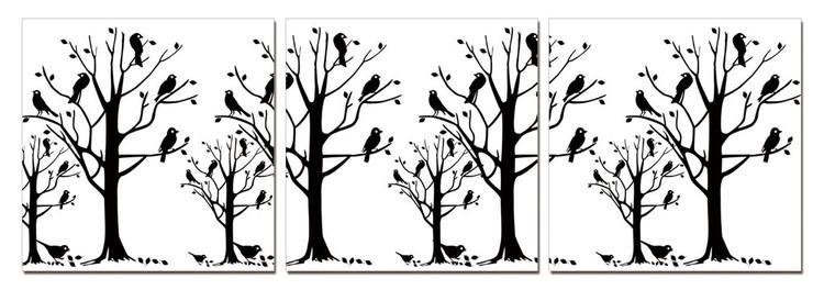 Modern design - black trees Taulusarja