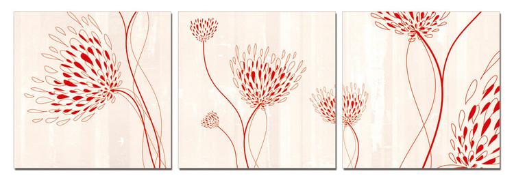 Modern design - flowers Taulusarja