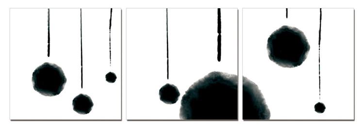 Modern Design - Hanging Balls (B&W) Taulusarja