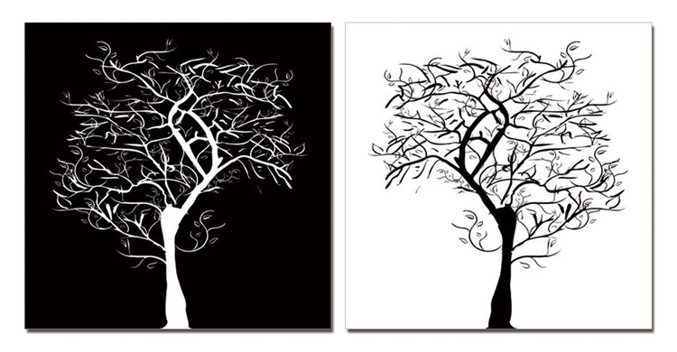 Modern Design - Tree Silhouettes Taulusarja