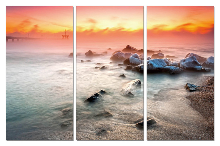 Sunset on the beach Taulusarja
