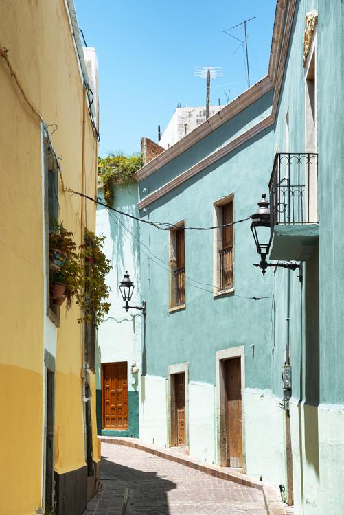 Tela Colorful Street - Guanajuato