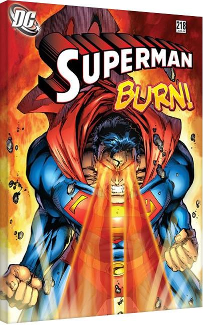 Tela DC Comics - Superman - Burn