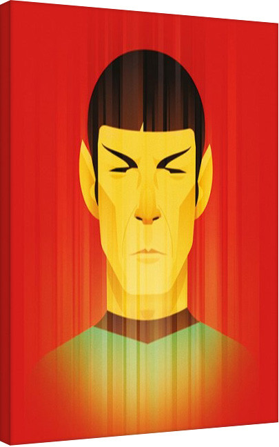 Tela Star Trek: Beaming Spock - 50th Anniversary