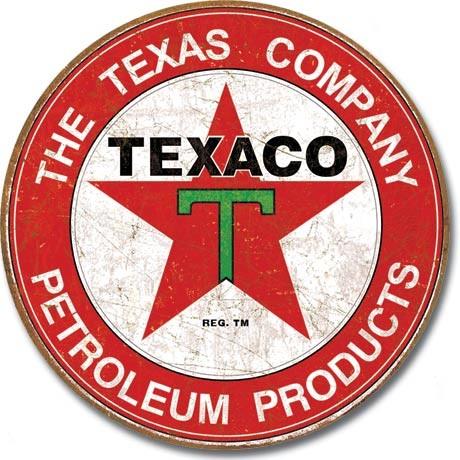 TEXACO - The Texas Company Plaque métal décorée