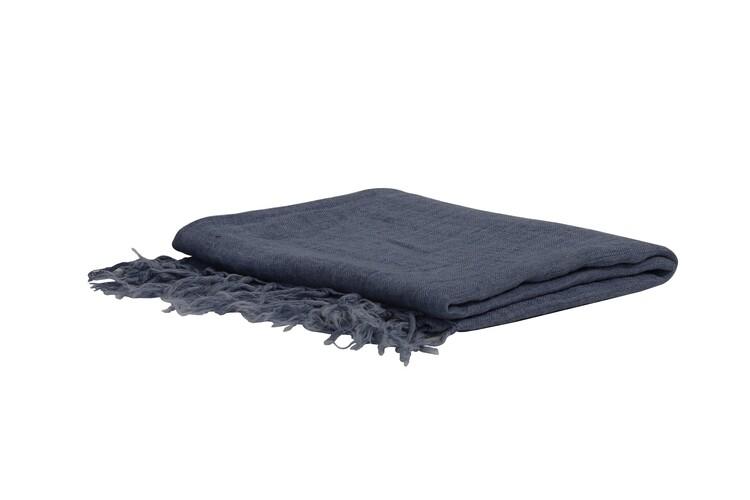 Blanket Medi - Grey-Blue Textile