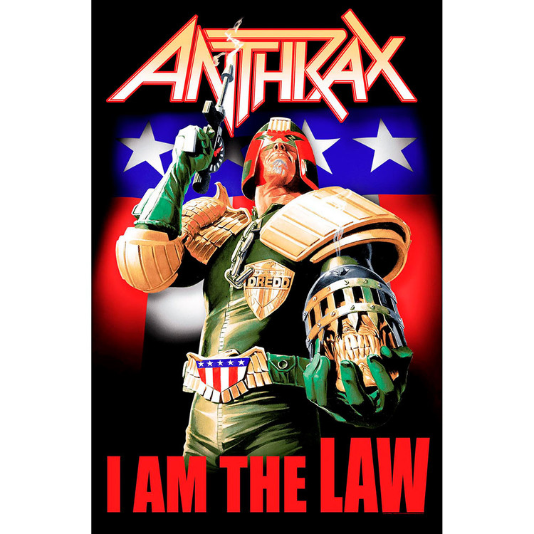 Textile poster Anthrax - I Am The Law