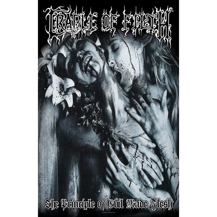 Textile poster Cradle Of Filth - Principle Of Evil Made Flesh