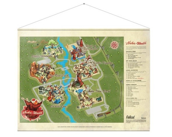 Textile poster Fallout - Map