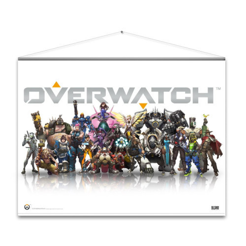 Textile poster Overwatch - Heroes